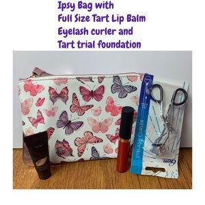 Ipsy Makeup bag, full tart Cheerleader lip paint